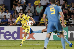September 14, 2017 - Villarreal, Spain - 15 Enes Unal of Villarreal CF   during the UEFA Europa League Group A football match between Villarreal CF vs FC Astana  at La Ceramica stadium in Villarreal  on September 14, 2017. (Credit Image: © Jose Miguel Fernandez/NurPhoto via ZUMA Press)