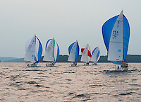 Winnipesaukee Yacht Club's J80 race on Thursday evening.   (Karen Bobotas/for the Laconia Daily Sun)