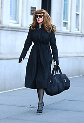 """Blake Lively is unrecognizable as she disguises as a redhead while filming her latest movie project """"The Rhythm Section"""" in Manhattan's Central Park. 14 Jan 2018 Pictured: Blake Lively. Photo credit: LRNYC / MEGA TheMegaAgency.com +1 888 505 6342"""