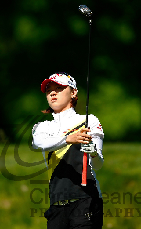 17 May 2012: Na Yeon Choi plays her tee shot on the third hole during the first round of match play at the Sybase Match Play Championship at Hamilton Farm Golf Club in Gladstone, New Jersey on May 17, 2012.  (Photo by Chris Keane - www.chriskeane.com)