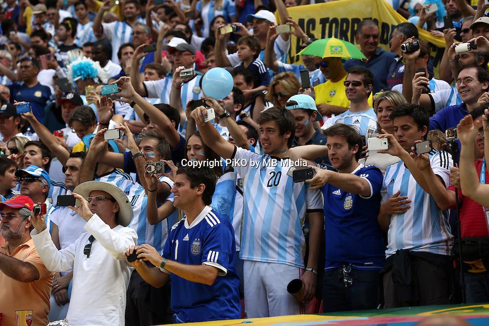 Fifa Soccer World Cup - Brazil 2014 - <br /> ARGENTINA (ARG) Vs. BELGIUM (BEL) - Quarter-finals - Estadio Nacional Brasilia -- Brazil (BRA) - 05 July 2014 <br /> Here Argentine supporters<br /> &copy; PikoPress