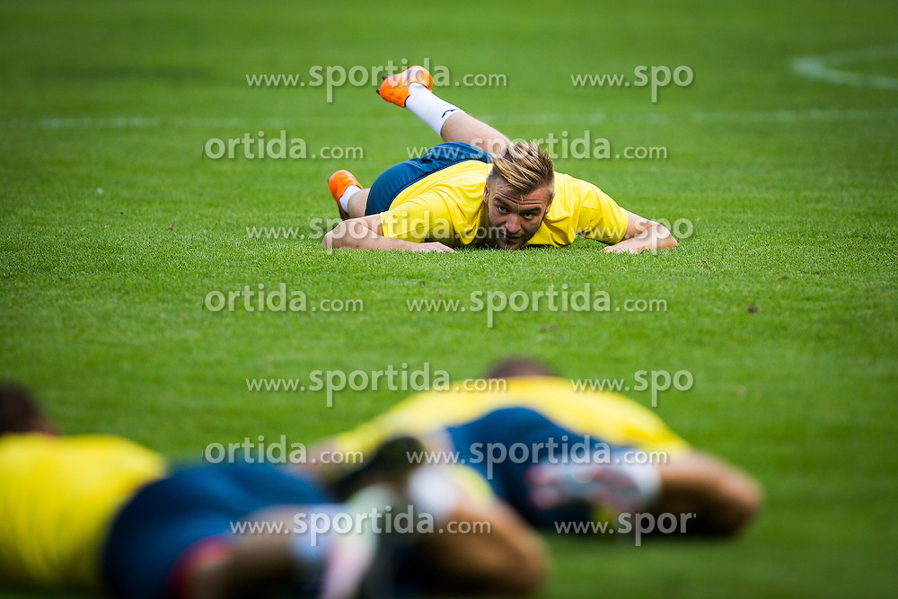 Slobodan Vuk of NK Domzale during practice session before football match between NK Domzale and FC Lusitanos Andorra in second leg of UEFA Europa league qualifications on July 6, 2016 in Andorra la Vella, Andorra. Photo by Ziga Zupan / Sportida