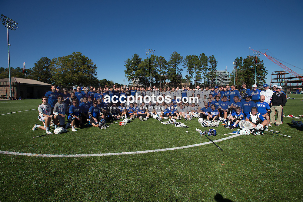 2015 October 17: Duke lacrosse alumni vs. varsity team annual game at Duke University in Durham, NC.