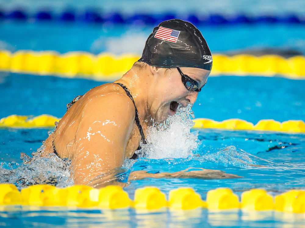The USA's Caitlin Leverenz in the women's 400 meter individual medley during the swimming competition at the 2015 PanAm Games in Toronto.