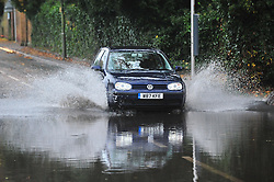 © Licensed to London News Pictures. 20/11/2016<br /> ROADS FLOODED,KENT.<br /> Rain, winds and flooded conditions on the roads from Storm Angus this morning at St Marys Cray,High Street, Orpington.<br /> <br /> Photo credit :Grant Falvey/LNP