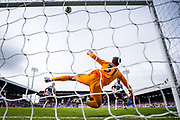 Fulham (31) Fabricio during the Premier League match between Fulham and Crystal Palace at Craven Cottage, London, England on 11 August 2018.