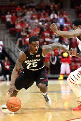 25 February 2015:   Anthony Beane during an NCAA MVC (Missouri Valley Conference) men's basketball game between the Southern Illinois Salukis and the Illinois State Redbirds at Redbird Arena in Normal Illinois