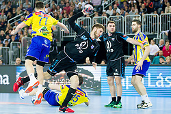 Domagoj Pavlovic of PPD Zagreb during handball match between PPD Zagreb (CRO) and RK Celje Pivovarna Lasko (SLO) in 13th Round of Group Phase of EHF Champions League 2015/16, on February 27, 2016 in Arena Zagreb, Zagreb, Croatia. Photo by Urban Urbanc / Sportida