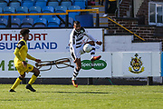 Forest Green Rovers Dan Wishart(17) controls the ball during the Vanarama National League match between Southport and Forest Green Rovers at the Merseyrail Community Stadium, Southport, United Kingdom on 17 April 2017. Photo by Shane Healey.