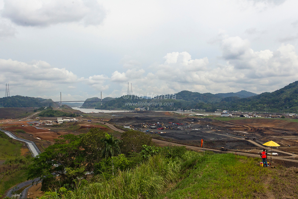 Photos of the works in the Panama Canal Expansion Project in the Pacific side of the Panama Canal. The Panama Canal Expansion Project consist of the construction of two new sets of locks that will be able to fit Post-Panamax size ships. Photo: Tito Herrera