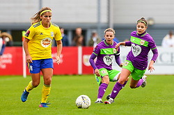 Carla Humphrey of Bristol City marks Paige Williams of Birmingham City Women - Mandatory by-line: Ryan Hiscott/JMP - 14/10/2018 - FOOTBALL - Stoke Gifford Stadium - Bristol, England - Bristol City Women v Birmingham City Women - FA Women's Super League 1