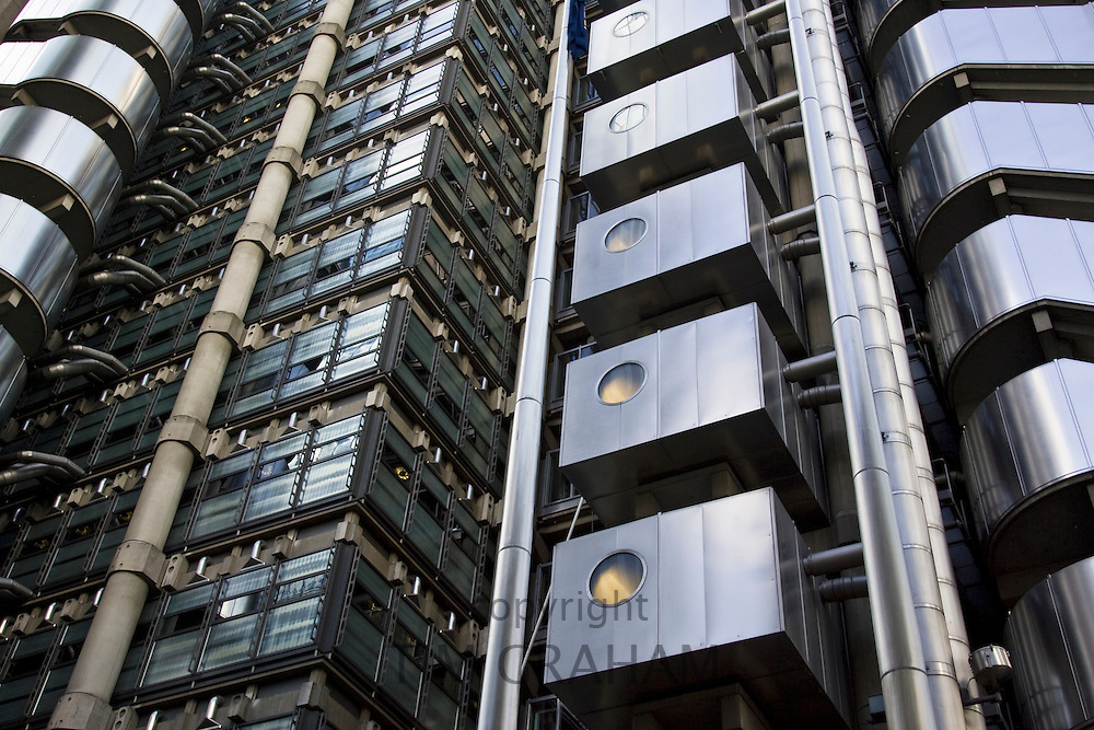 The Lloyd's Building offices of Lloyds of London insurance in the City, London, England, United Kingdom