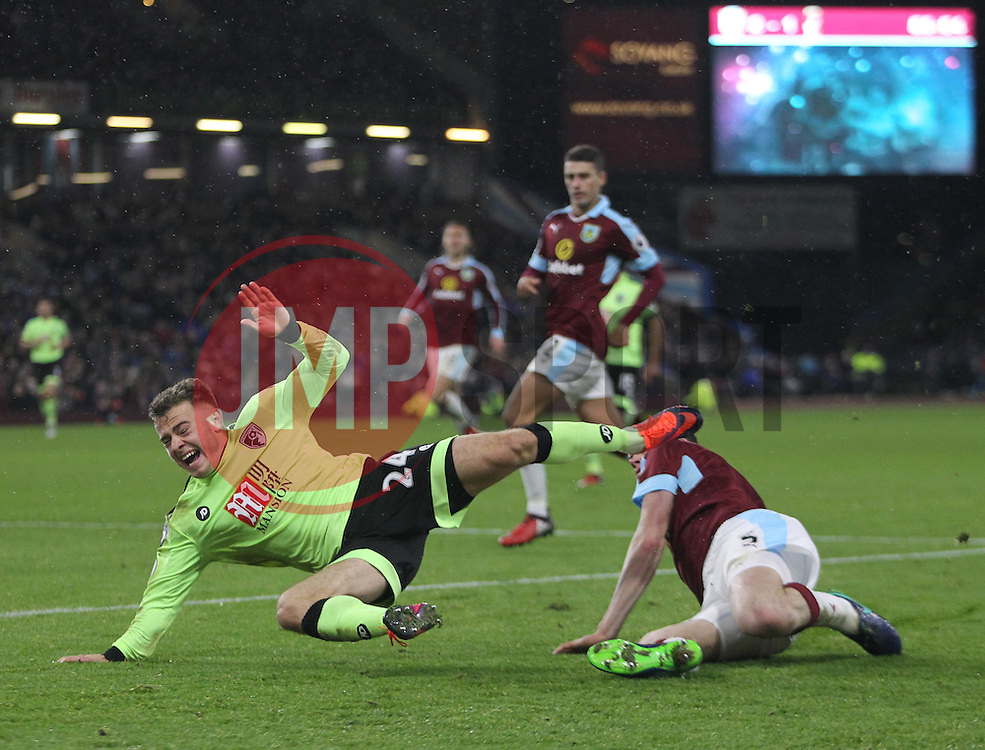 Ryan Fraser of Bournemouth is fouled - Mandatory by-line: Jack Phillips/JMP - 10/12/2016 - FOOTBALL - Turf Moor - Burnley, England - Burnley v AFC Bournemouth - Premier League