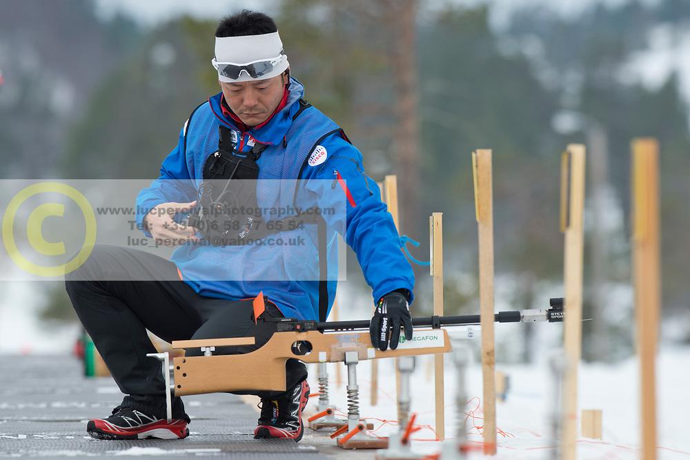 Coach, JPN, Short Distance Biathlon, 2015 IPC Nordic and Biathlon World Cup Finals, Surnadal, Norway