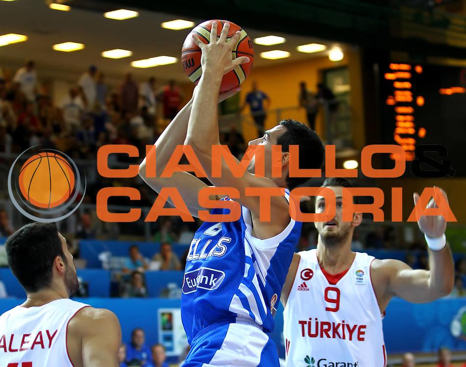 DESCRIZIONE : Koper Slovenia Eurobasket Men 2013 Preliminary Round Grecia Turchia Greece Turkey<br /> GIOCATORE : Nikos Zizis<br /> CATEGORIA : tiro shot<br /> SQUADRA : Grecia Greece<br /> EVENTO : Eurobasket Men 2013<br /> GARA : Grecia Turchia Greece Turkey<br /> DATA : 07/09/2013 <br /> SPORT : Pallacanestro <br /> AUTORE : Agenzia Ciamillo-Castoria/ElioCastoria<br /> Galleria : Eurobasket Men 2013<br /> Fotonotizia : Koper Slovenia Eurobasket Men 2013 Preliminary Round Grecia Turchia Greece Turkey<br /> Predefinita :
