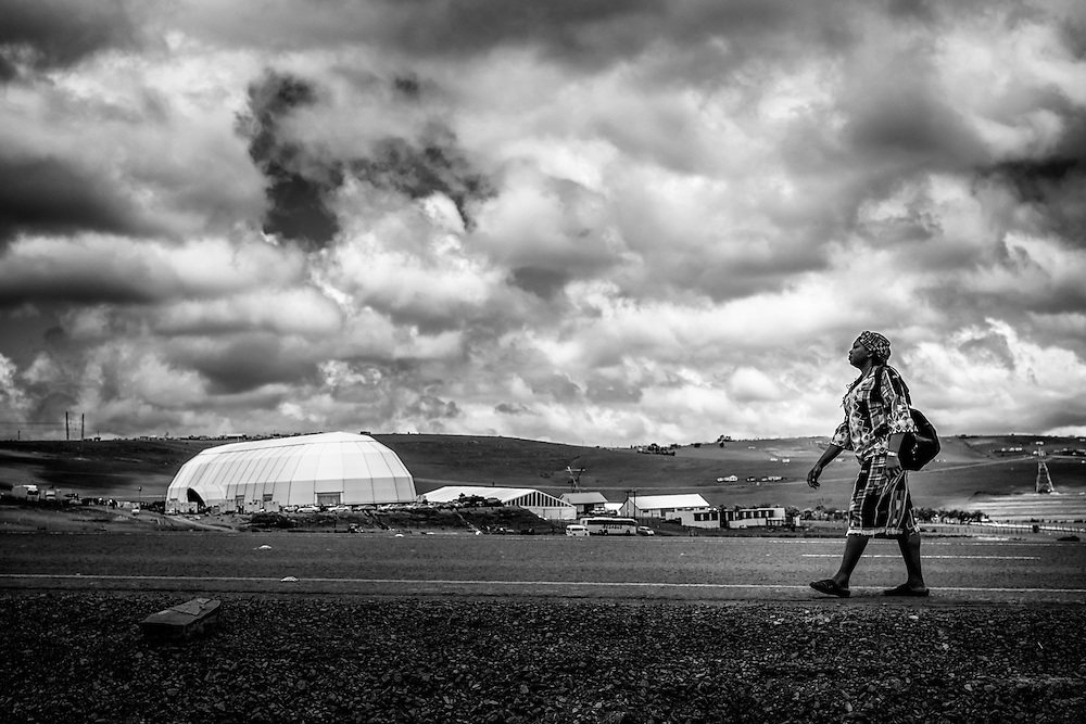 Day of Nelson Mandela State Funeral in Qunu, Eastern Cape, South Africa.