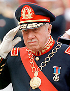 Augusto Pinochet  (1915 - 2006) Chilean army general. President of Chile after leadin a U.S.-backed coup d'état on September 11, 1973. Among his titles, he was the Commander-in-Chief of the Chilean army from 1973 to 1998,