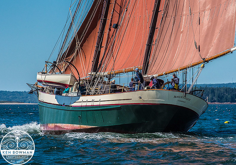 Angelique Maine Winderjammer under sail.