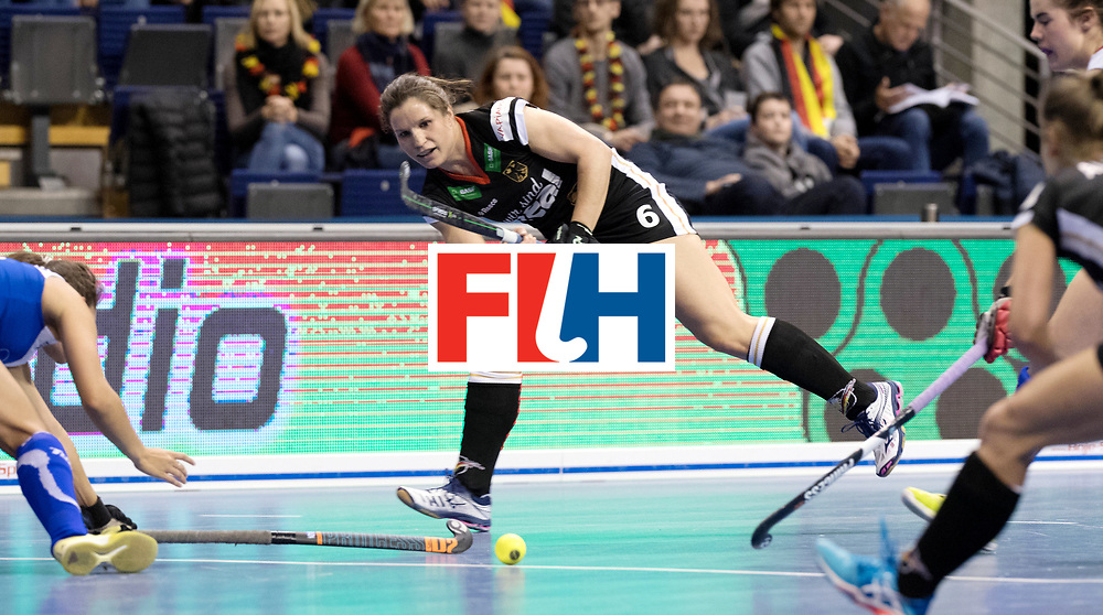BERLIN - Indoor Hockey World Cup<br /> Women: Germany - Namibia<br /> foto: STEINDOR Luisa.<br /> WORLDSPORTPICS COPYRIGHT FRANK UIJLENBROEK