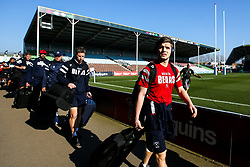 Harry Randall of Bristol Bears arrives at Harlequins - Mandatory by-line: Robbie Stephenson/JMP - 23/02/2019 - RUGBY - Twickenham Stoop - London, England - Harlequins v Bristol Bears - Gallagher Premiership Rugby