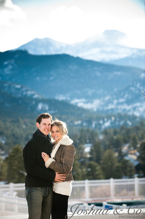 Melissa Simmelink and Aaron Chockla's engagement portraits in Estes Park on Monday, Nov. 21, 2011. Joshua Buck  // Joshua & Co. Photography // www.joshuacophotography.com