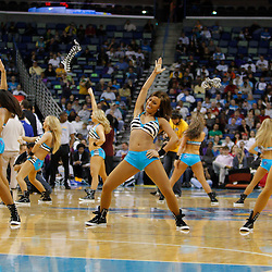 January 5, 2011; New Orleans, LA, USA; New Orleans Hornets Honeybees dancers perform during the second half of a game against the Golden State Warriors at the New Orleans Arena. The Warriors defeated the Hornets 110-103.  Mandatory Credit: Derick E. Hingle