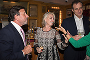 ROCCO FORTE; BEATRICE VINCENZINI, Pedro Girao of Christies and Duncan Macintyre of Lombard Odier host the last dinner at the Old Annabels. 44 Berkeley Sq. London. 15 November 2018
