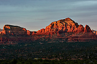 Sunset Panorama Sedona, Arizona. Image 9 of 11 images taken with a Nikon 1 V2 camera and 32 mm f/1.2 lens (ISO 200, 32 mm, f/5.6, 1/40 sec). Raw images processed with Capture One Pro. Panorama generated using AutoPano Giga Pro.