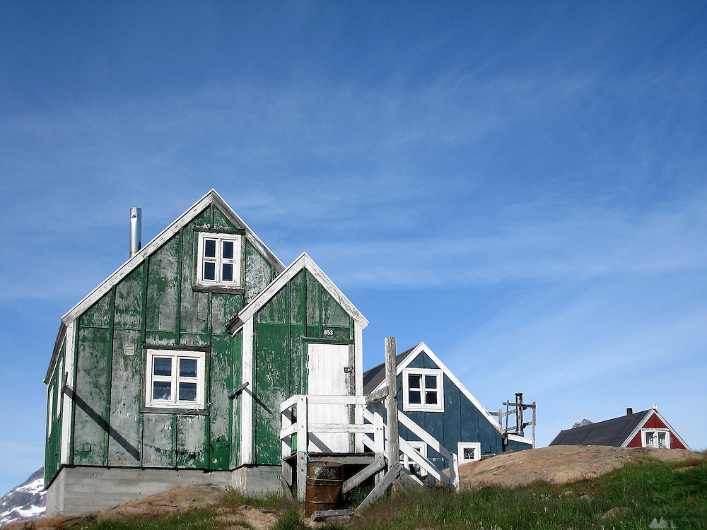 Colourful houses in Tasiilaq, south-eastern Greenland
