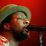 Hidalgo, TX / 2006 - Wyclef Jean takes the stage in front of a sold out crowd at Dodge Arena. Photo by Mike Roy / The Monitor