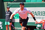 Andy Murray (GBR) during the mens singles second round of the Roland Garros Tennis Open 2017 at Roland Garros Stadium, Paris, France on 1 June 2017. Photo by Jon Bromley.