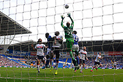 Darren Randolph (23) of Middlesbrough jumps to claim the ball during the EFL Sky Bet Championship match between Cardiff City and Middlesbrough at the Cardiff City Stadium, Cardiff, Wales on 21 September 2019.