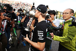 GP von Japan 2016 in Suzuka / 091016<br /> <br /> ***Formula One Grand Prix of Japan on October 9, 2016 in Suzuka.***<br /> <br /> GP von Japan 2016 in Suzuka / 091016<br /> <br /> ***Formula One Grand Prix of Japan on October 9, 2016 in Suzuka.***<br /> <br /> Race winner Nico Rosberg (GER) Mercedes AMG F1 celebrates the Constructors' title with the team.<br /> 09.10.2016. Formula 1 World Championship, Rd 17, Japanese Grand Prix, Suzuka, Japan, Race Day.<br /> - www.xpbimages.com, EMail: requests@xpbimages.com - copy of publication required for printed pictures. Every used picture is fee-liable. © Copyright: Moy / XPB Images
