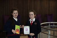 Each year over 6,000 primary school children in County Galway write and submit books in English and Irish. The winning entries are recognised in a major Awards&rsquo; Ceremony attended by an average of 1,500 attendees each year held in the Galmont Hotel.<br /> One of this years young authors was 5th class pupils Alannah Cogley Tara Kenny from Carnmore National school.<br />    Photo:Andrew Downes, XPOSURE .