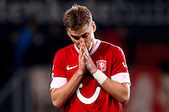 Onderwerp/Subject: FC Twente - Eredivisie<br /> Reklame:  <br /> Club/Team/Country: <br /> Seizoen/Season: 2012/2013<br /> FOTO/PHOTO: Rasmus BENGTSSON of FC Twente dejected. (Photo by PICS UNITED)<br /> <br /> Trefwoorden/Keywords: <br /> #03 #09 $94 ±1355229149625<br /> Photo- & Copyrights © PICS UNITED <br /> P.O. Box 7164 - 5605 BE  EINDHOVEN (THE NETHERLANDS) <br /> Phone +31 (0)40 296 28 00 <br /> Fax +31 (0) 40 248 47 43 <br /> http://www.pics-united.com <br /> e-mail : sales@pics-united.com (If you would like to raise any issues regarding any aspects of products / service of PICS UNITED) or <br /> e-mail : sales@pics-united.com   <br /> <br /> ATTENTIE: <br /> Publicatie ook bij aanbieding door derden is slechts toegestaan na verkregen toestemming van Pics United. <br /> VOLLEDIGE NAAMSVERMELDING IS VERPLICHT! (© PICS UNITED/Naam Fotograaf, zie veld 4 van de bestandsinfo 'credits') <br /> ATTENTION:  <br /> © Pics United. Reproduction/publication of this photo by any parties is only permitted after authorisation is sought and obtained from  PICS UNITED- THE NETHERLANDS