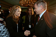 Manhattan, NY, USA, September 17th 2005:  The Prime Minister of Norway, Kjell Magne Bondevik during a panel discussion at the inauguration meeting of the Clinton Global Initiative.<br /> <br /> Bondevik meet Angelina Jolie.<br /> <br /> Photo: Orjan F: Ellingvag/ Dagbladet *** Local Caption ***