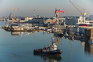 Saint Nazaire, 28/10/2014: il porto - harbour.<br /> &copy; Andrea Sabbadini
