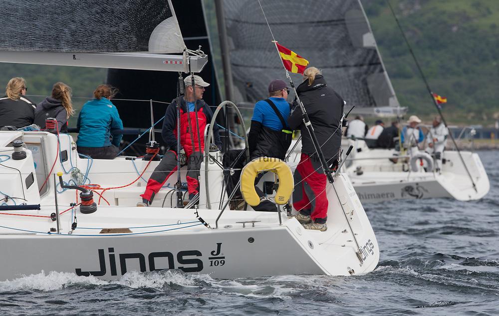 Silvers Marine Scottish Series 2017<br /> Tarbert Loch Fyne - Sailing<br /> <br /> GBR8543R, Jings, Robin Young, CCC, J109<br /> <br /> Credit: Marc Turner / CCC