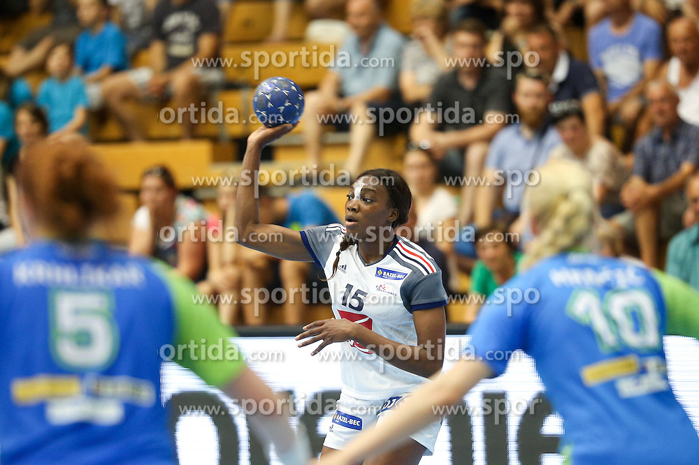 Kalidiatou Niakate of France during handball match between National Teams of Slovenia and France in Qualification of 2015 Women's European Championship, on June 13th, in Rdeca Dvorana, Velenje. Photo by Morgan Kristan / Sportida