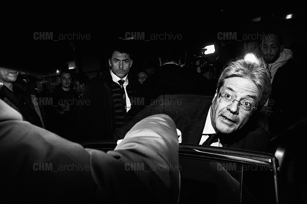 Paolo Gentiloni. Opening of the PD electoral campaign at 'Spazio Altraeconomia' in Rome on 1 January 2018. Christian Mantuano / OneShot