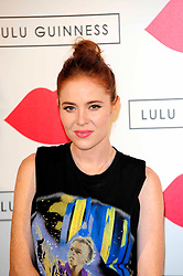 """Lulu Guinness Paint Project.<br /> Angela Scanlon attends the """"Lulu Guinness paint project in collaboration with beautiful crime and their artist Joseph Steele"""" Held at the old sorting office, Oxford street,<br /> London, United Kingdom<br /> Thursday, 11th July 2013<br /> Picture by Chris  Joseph / i-Images"""