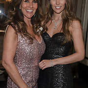 Linda Lusardi and Lucy Kane attend the Rainbows Celebrity Charity Ball at Dorchester Hotel on June 1, 2018 in London, England.