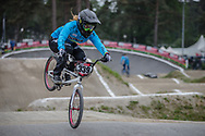 #339 (CADAVID IDARRAGA Ana Sofia) COL at Round 6 of the 2018 UCI BMX Superscross World Cup in Zolder, Belgium