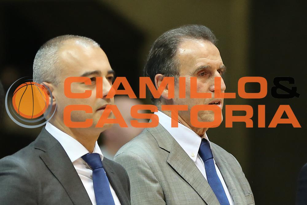 Recalcati Carlo e Sodini Marco, Mia Cantù vs Grissin Bon Reggio Emilia LBA serie A 6^ giornata di ritorno stagione 2016/2017 PalaDesio 06/03/2017