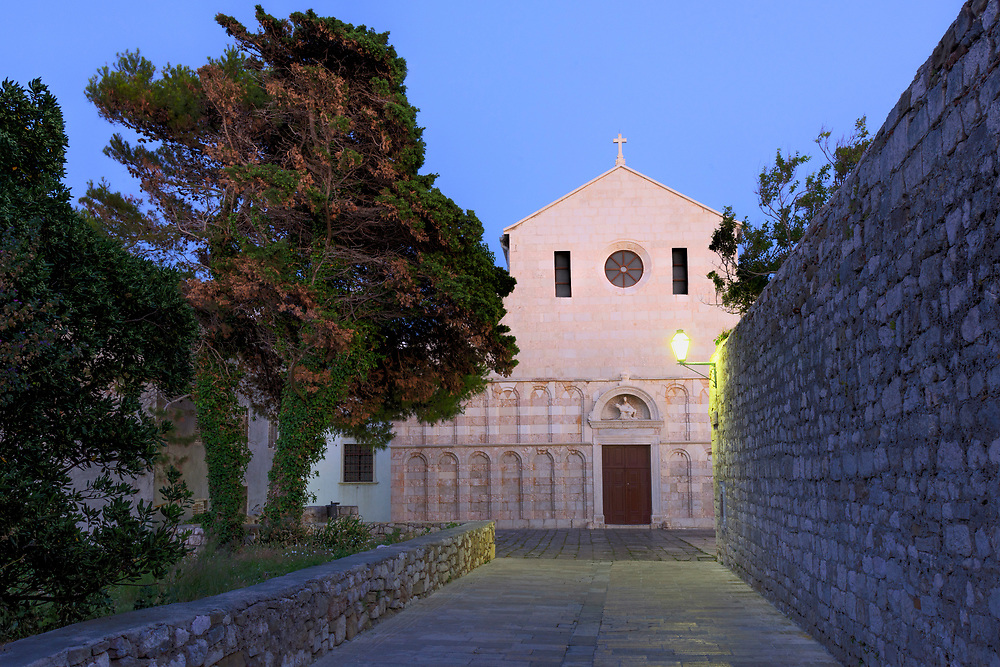 Europe, Balkan, Croatia, Rab,The Cathedral of the Holy Virgin Mary Assumption