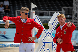 KUEHNER Max (AUT), EHNING Marcus (GER)<br /> Rotterdam - Europameisterschaft Dressur, Springen und Para-Dressur 2019<br /> Parcoursbesichtigung<br /> Longines FEI Jumping European Championship - 1st part - speed competition against the clock<br /> 1. Runde Zeitspringen<br /> 21. August 2019<br /> © www.sportfotos-lafrentz.de/Stefan Lafrentz
