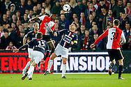 17-12-2015 VOETBAL: KNVB BEKER: FEYENOORD- WILLEM II: ROTTERDAM<br /> <br /> Eljero Elia van Feyenoord in duel met Jordens Peters van Willem II <br /> <br /> Foto: Geert van Erven