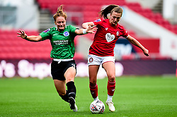 Charlie Wellings of Bristol City is challenged by Felicity Gibbons of Brighton and Hove Albion Women - Mandatory by-line: Ryan Hiscott/JMP - 07/09/2019 - FOOTBALL - Ashton Gate - Bristol, England - Bristol City Women v Brighton and Hove Albion Women - FA Women's Super League