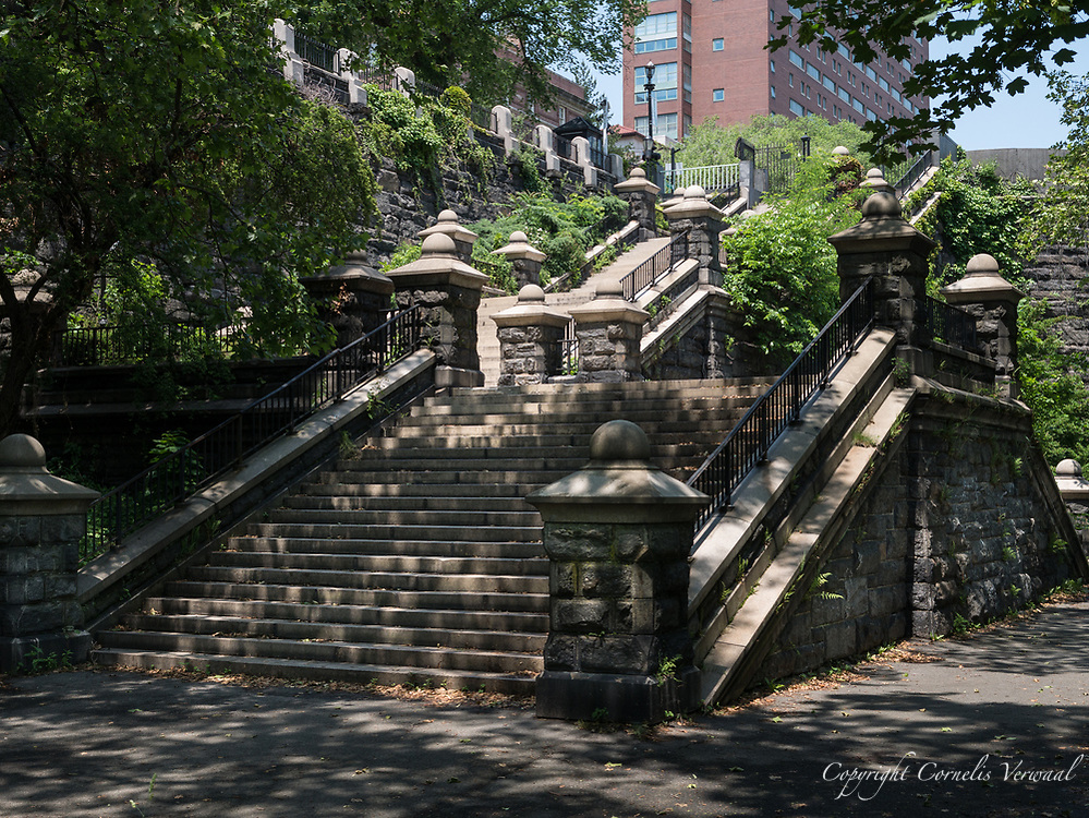 Grand staircase at Morningside Park