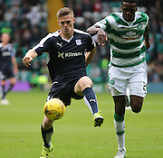 Dundee's Rhys Healey and Celtic's Dedryck Boyata  - Celtic v Dundee - Ladbrokes Premiership at Celtic Park<br /> <br /> <br />  - © David Young - www.davidyoungphoto.co.uk - email: davidyoungphoto@gmail.com